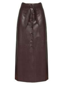 Nanushka Arfan belted skirt - PURPLE