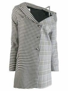 Each X Other Deconstructed off-the-shoulder coat - Black
