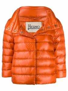 Herno cropped quilted puffer jacket - Orange
