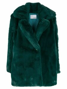 Each X Other Vegan mink tailored coat - Green