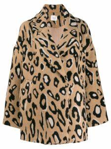 Alysi leopard print coat - Brown