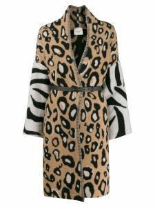 Alysi leopard print coat - Brown