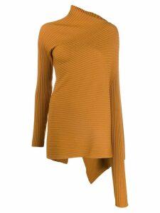 Marques'Almeida draped knit jumper - Yellow