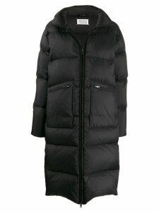 Maison Margiela long puffer coat - Black