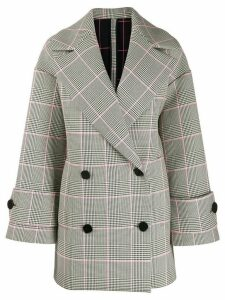 MSGM oversized check coat - Blue