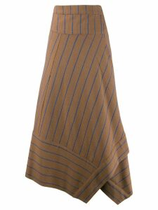 Alysi striped print skirt - Brown
