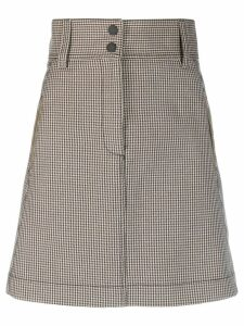 Sandro Paris houndstooth print a-line skirt - Brown