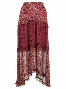 Ba & Sh tiered midi skirt