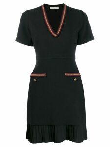 Sandro Paris short-sleeved mini dress - Black