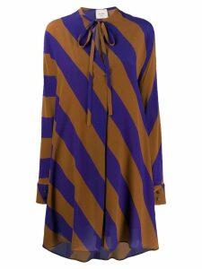 Alysi striped shirt dress - Brown