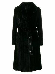 Liska spread collar coat - Black