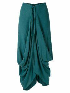 Uma Raquel Davidowicz México draped skirt - Blue
