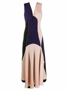 colville colour block intarsia dress - Black