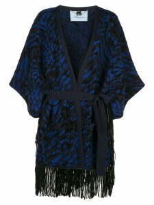 Blumarine patterned poncho dress - Black