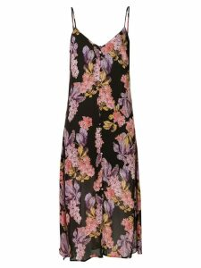 We Are Kindred Stevie floral-print slip dress - Black
