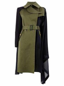 Sacai wrap around coat - Green