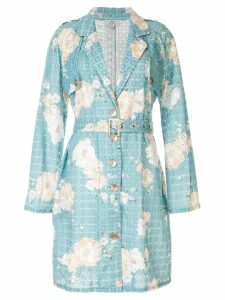 We Are Kindred Lulu floral midi coat - Blue