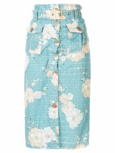 We Are Kindred Lulu floral print skirt - Blue