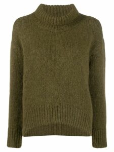 Ermanno Scervino ribbed turtle neck jumper - Green