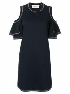 PortsPURE cut-out shoulder dress - Blue