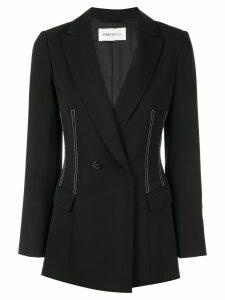 PortsPURE contrast stitching blazer - Black
