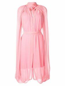 Kitx cape-detailed midi dress - Pink