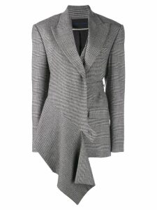 Proenza Schouler Draped Plaid Blazer - Black