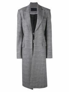 Proenza Schouler plaid oversized coat - Black