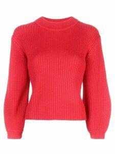 Tibi Origami slit skirt - Red