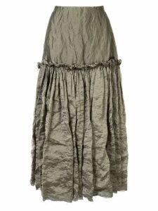 Kitx ruffle-trimmed skirt - Grey