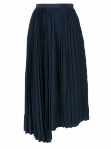 Le Ciel Bleu Georgette asymmetric skirt - Blue