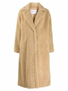 Stand shearling coat - Neutrals