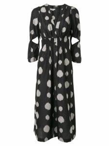 Kitx Ika Spot shirt dress - Black