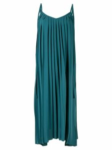 Le Ciel Bleu pleated cami dress - Green