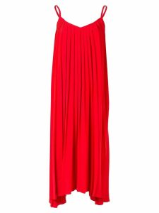 Le Ciel Bleu pleated cami dress - Red