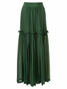 Kitx Wonderwoman ruffle-trimmed skirt - Green