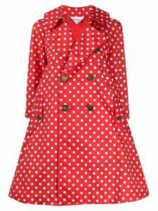 Comme Des Garçons Girl polka dot flared trench coat