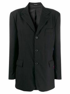 Maison Margiela flamingo print blazer - Black