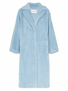 STAND STUDIO Maria teddy fleece coat - Blue