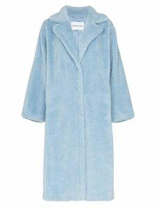 Stand Maria teddy fleece coat - Blue