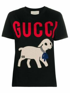 Gucci lamb-printed T-shirt - Black