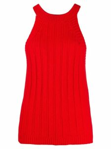 Jejia knitted ribbed top - Red