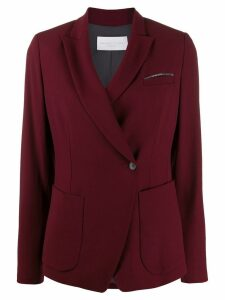 Fabiana Filippi off-centre fastened blazer - Red