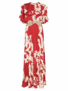 Johanna Ortiz Musica Sagrada ruffle maxi dress - Red