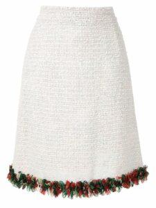 Dolce & Gabbana bouclé tweed a-line skirt - White
