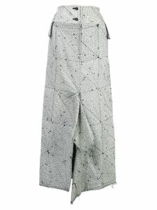 Yohji Yamamoto high waisted draped skirt - White