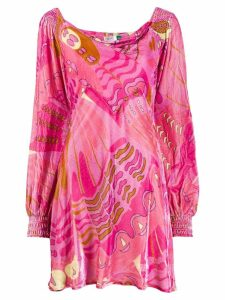 Rixo Mary psychedelic-butterfly dress - Pink