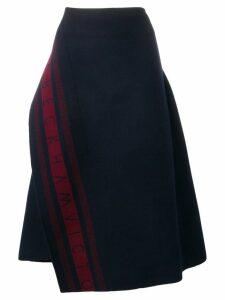 Victoria Beckham logo asymmetric skirt - Blue