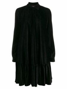 Talbot Runhof flared pleated dress - Black