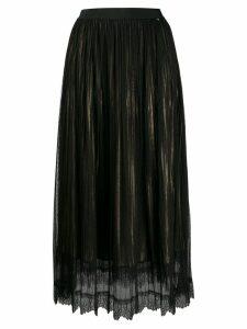 Twin-Set gathered tulle layered skirt - Black
